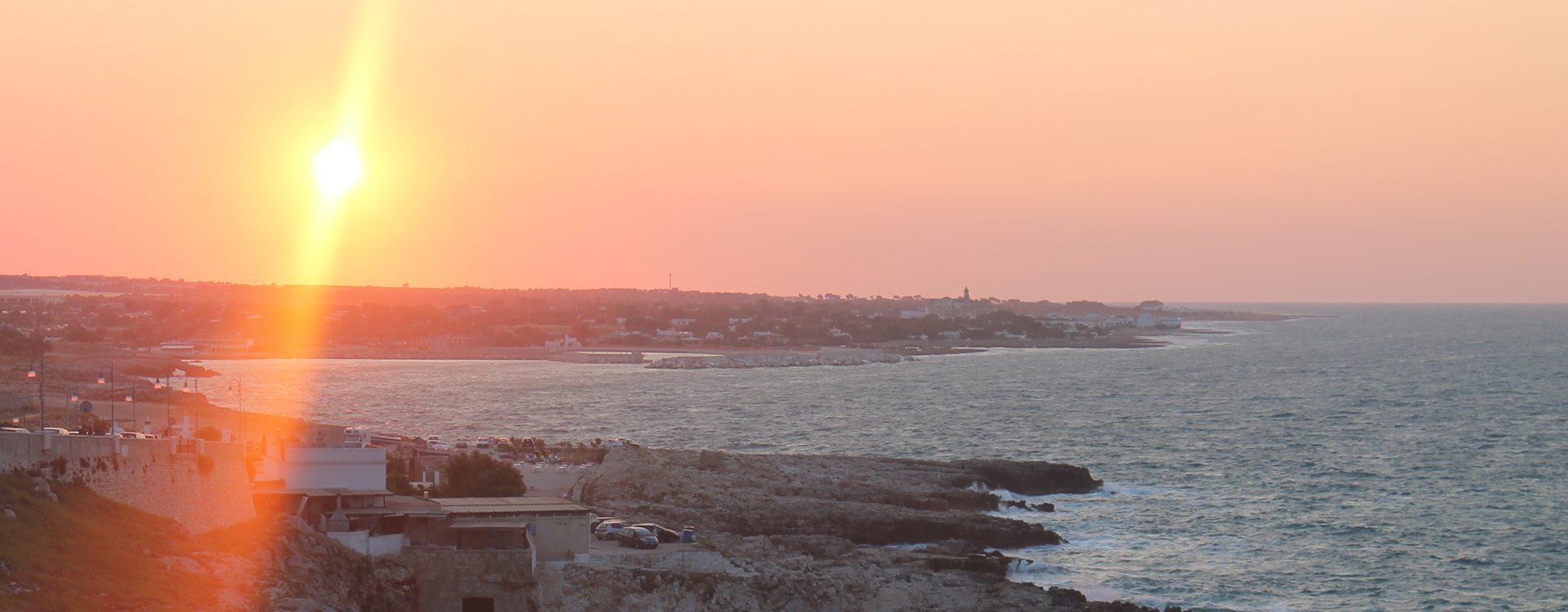 The sunset in Polignano a Mare